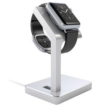 Apple Watch Satechi Aluminum Charging Stand Silver