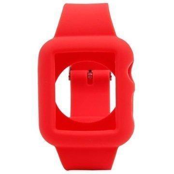 Apple Watch Silikoninen Suojakuori 38mm Punainen