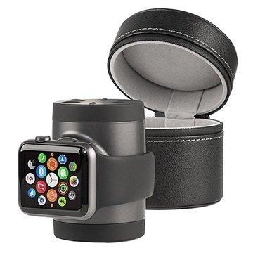 Apple Watch Techlink Recharge Power Bank & Travel Case Black / Graphite