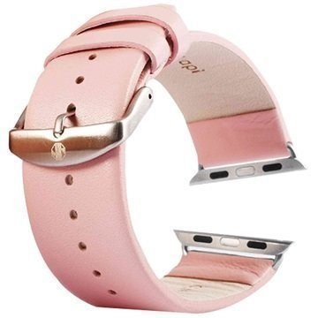 Apple Watch Tuff-luv Nahkaranneke 42mm Pinkki