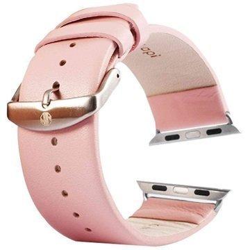 Apple Watch Tuff-luv Nahkaranneke 42mm Pinkki