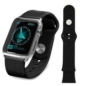 Apple Watch Tuff-luv Silikoniranneke 38mm Musta