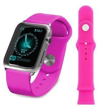 Apple Watch Tuff-luv Silikoniranneke 38mm Pinkki