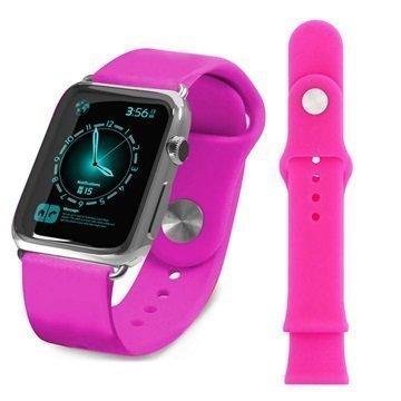 Apple Watch Tuff-luv Silikoniranneke 38mm Pinkki