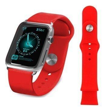 Apple Watch Tuff-luv Silikoniranneke 38mm Punainen