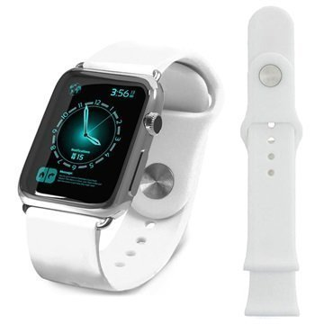 Apple Watch Tuff-luv Silikoniranneke 38mm Valkoinen