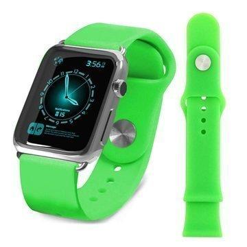 Apple Watch Tuff-luv Silikoniranneke 38mm Vihreä