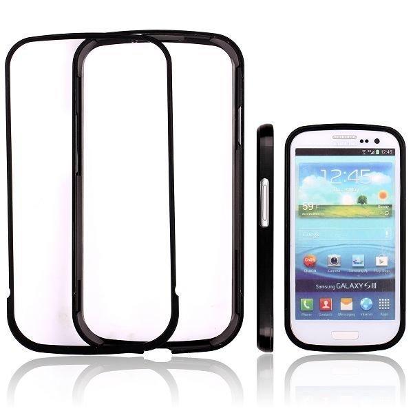 Area 51 Alumiininen Bumper Musta Samsung Galaxy S3 Alumiininen Suojakehys