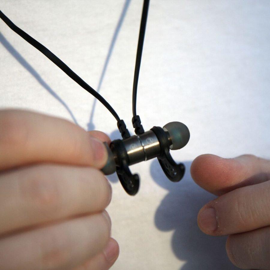 Armor-X Bluetooth 4.0 Langattomat nappikuulokkeet mikrofonilla Roiskevedenkestävät