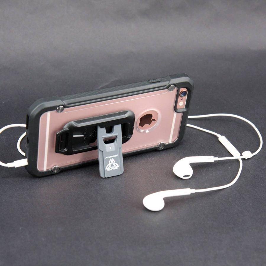 Armor-X Rugged Iskunkestävä iPhone 7 Kotelo + vyöklipsi + karabineerikoukku Musta / Läpinäkyvä