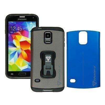 Armor-X Rugged Samsung Galaxy S5 Kotelo Tummanharmaa & Sininen