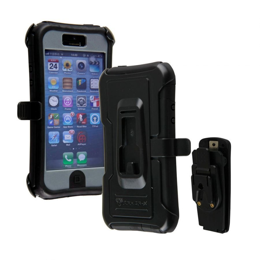 Armor-X Rugged iPhone 5 / 5S Kotelo Harmaa & Musta