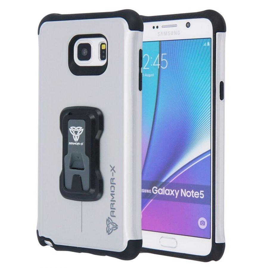 Armor-X Samsung Galaxy Note 5 Rugged suojakotelo Harmaa