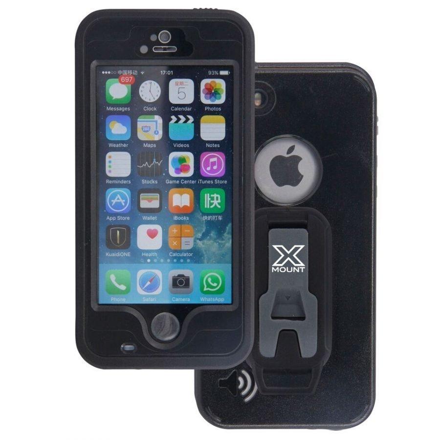 Armor-X Vedenkestävä kotelo iPhone 5 / 5S / 5SE Musta