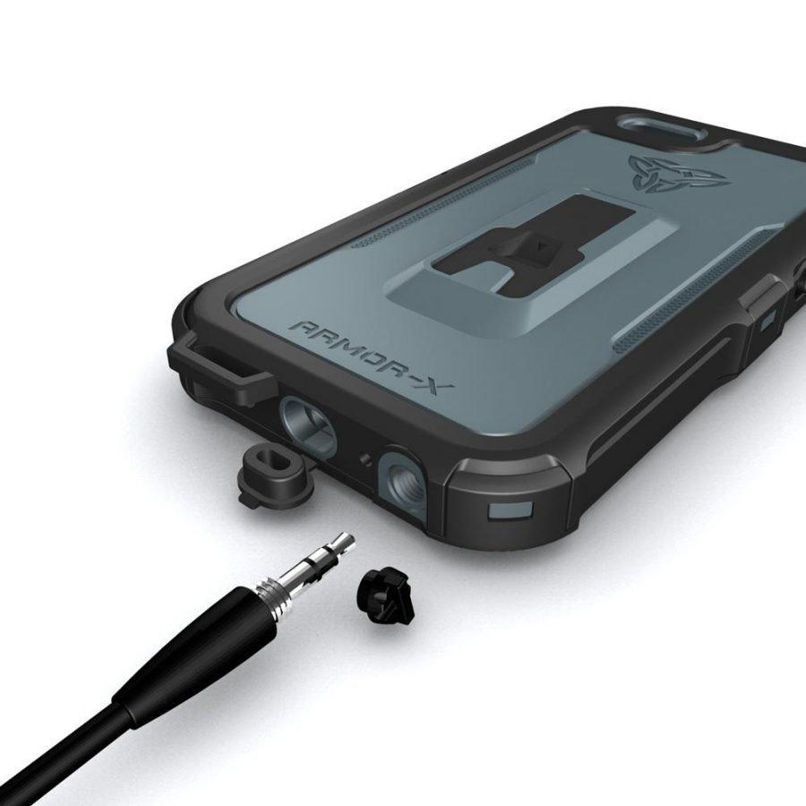 Armor-X iPhone 6 / 6S IPX7 Vedenkestävä suojakotelo MX-AP4-BK
