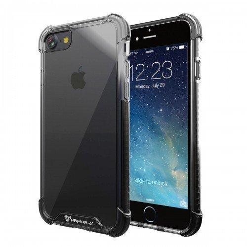 Armor-X iPhone 7 CBN-i7-BK Ultra Slim Iskunkestävä Läpinäkyvä Suojakotelo