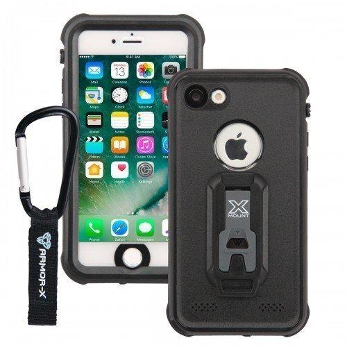 Armor-X iPhone 7 Plus IP68 Vedenkestävä suojakotelo MX-AP7P-BK