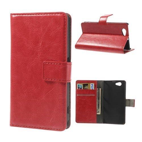 Arnald Sony Xperia Z1 Compact Nahkakotelo Punainen