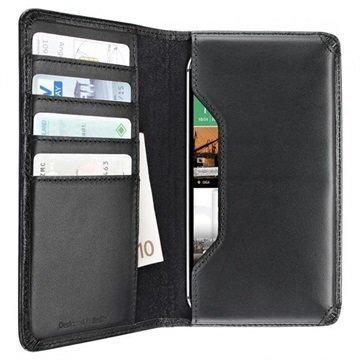 Artwizz Yleiskäyttöinen Lompakkomallinen Nahkakotelo XL Musta