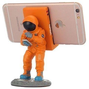 "Astronautti Pöytäteline Ã""lypuhelimelle â"" Oranssi"