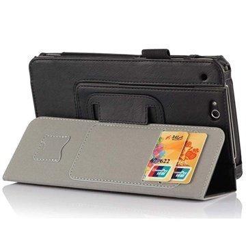 Asus PadFone Mini Lompakkomallinen Nahkakotelo Musta