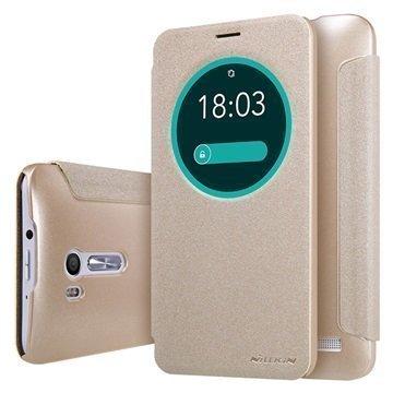 Asus ZenFone Go ZB551KL Nillkin Sparkle View Flip Case Gold