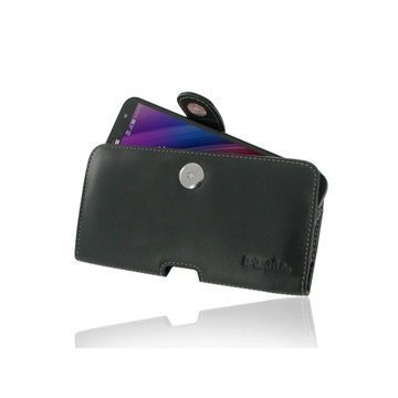 Asus Zenfone 2 Laser ZE601KL PDair Vaakasuuntainen Nahkakotelo Musta