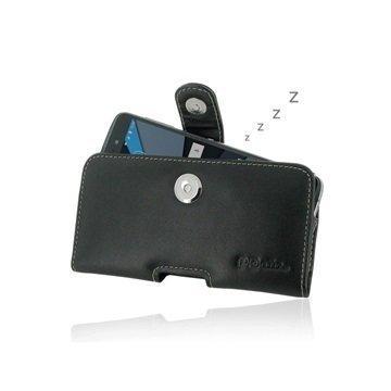 Asus Zenfone 2 ZE551ML PDair Vaakasuuntainen Nahkakotelo Musta