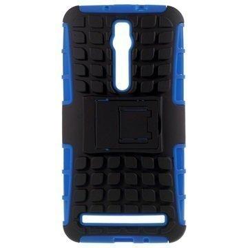 Asus Zenfone 2 ZE551ML Zenfone 2 ZE550ML Anti-Slip Hybridikotelo Musta / Sininen