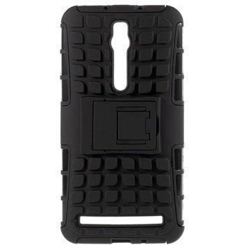 Asus Zenfone 2 ZE551ML Zenfone 2 ZE550ML Anti-Slip Hybridikotelo Musta
