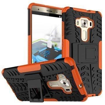 Asus Zenfone 3 Deluxe ZS570KL Anti-Slip Hybrid Case Black / Orange