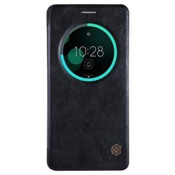 Asus Zenfone 3 Deluxe ZS570KL Nillkin Qin Smart View Flip Case Black