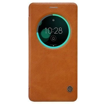 Asus Zenfone 3 Deluxe ZS570KL Nillkin Qin Smart View Flip Case Brown