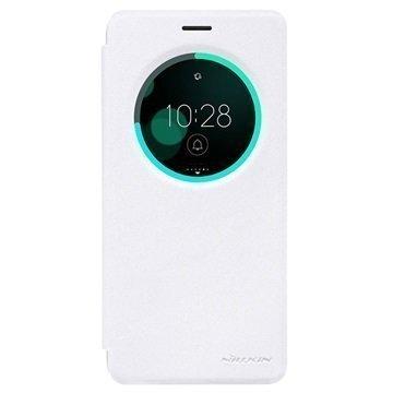 Asus Zenfone 3 Deluxe ZS570KL Nillkin Sparkle Ikkunallinen Kotelo Valkoinen