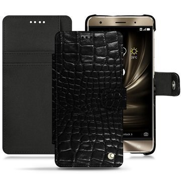 Asus Zenfone 3 Deluxe ZS570KL Noreve Tradition B Wallet Case Crocodile Black