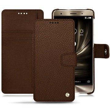 Asus Zenfone 3 Deluxe ZS570KL Noreve Tradition B Wallet Case Kastanjanruskea