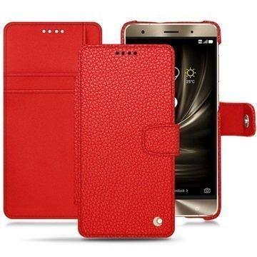 Asus Zenfone 3 Deluxe ZS570KL Noreve Tradition B Wallet Case Tomaatinpunainen