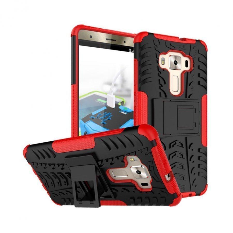 Asus Zenfone 3 Deluxe Zs570kl Hybridi Kuori Standillä Punainen