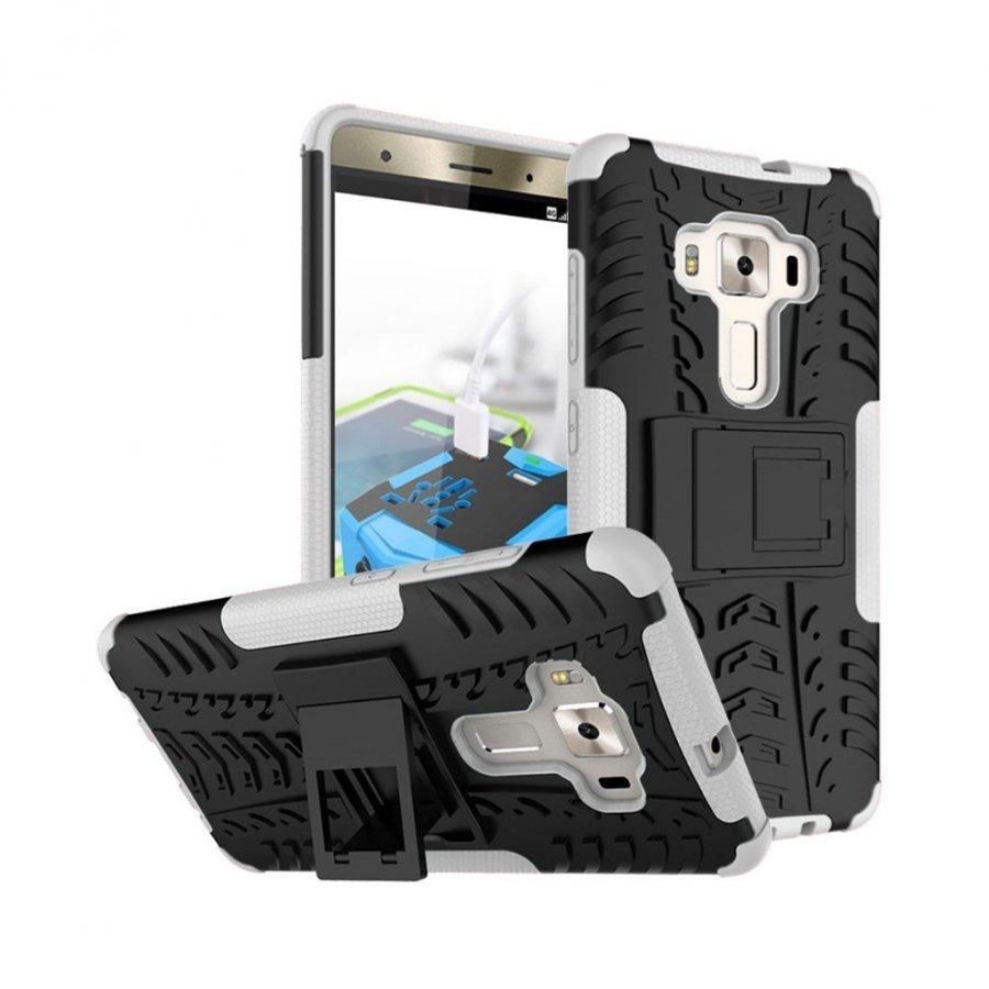 Asus Zenfone 3 Deluxe Zs570kl Hybridi Kuori Standillä Valkoinen