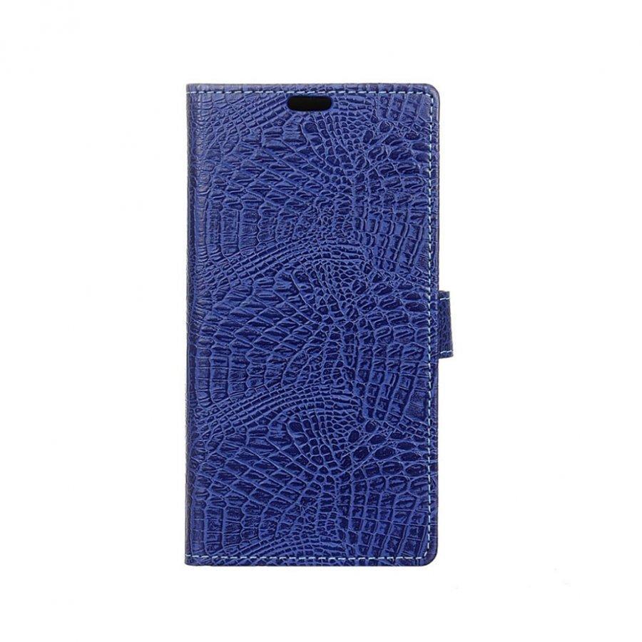 Asus Zenfone 3 Deluxe Zs570kl Krokotiilinahka Kotelo Tummansininen