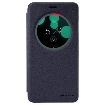 Asus Zenfone 3 Laser ZC551KL Nillkin Sparkle Ikkunallinen Kotelo Musta