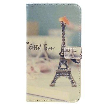 Asus Zenfone 3 Max ZC520TL Glam Wallet Case Eiffel Tower