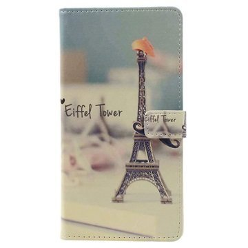 Asus Zenfone 3 Max ZC553KL Glam Wallet Case Eiffel Tower