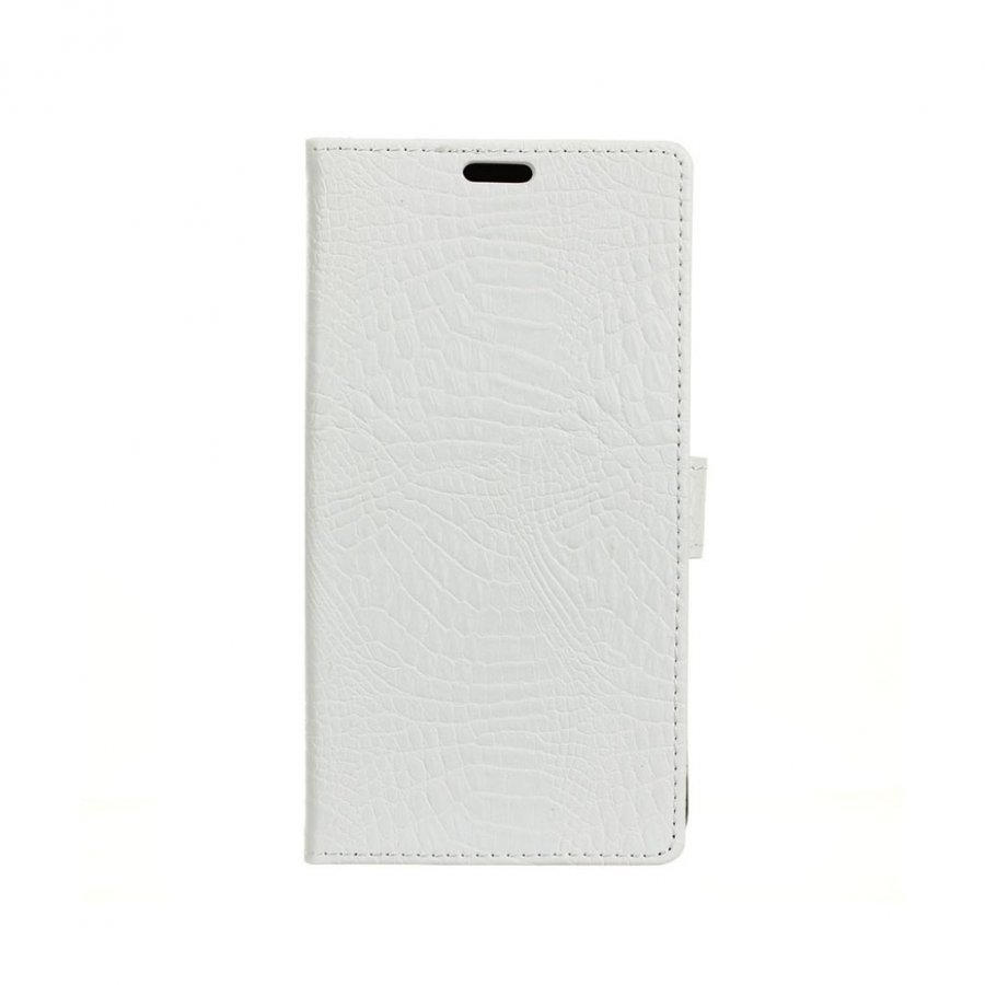 Asus Zenfone 3 Max Zc553kl Krokotiilinnahka Kotelo Valkoinen