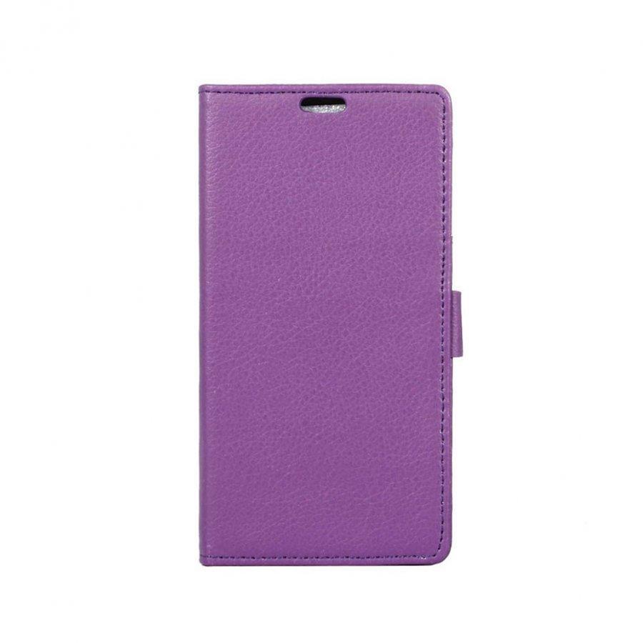 Asus Zenfone 3 Max Zc553kl Litsi Kuvioinen Nahkakotelo Violetti