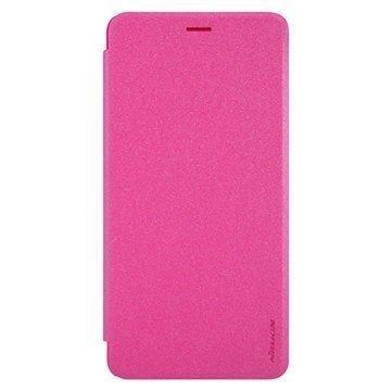 "Asus Zenfone 3 Ultra ZU680KL Nillkin Sparkle läppäkotelo â"" Kuuma Pinkki"