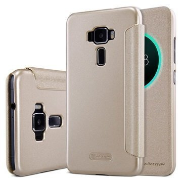 Asus Zenfone 3 ZE520KL Nillkin Sparkle View Flip Case Gold