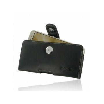 Asus Zenfone 3 ZE520KL PDair Vaakasuuntainen Nahkakotelo Musta