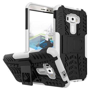 Asus Zenfone 3 ZE552KL Anti-Slip Hybrid Case Black / White