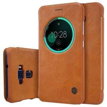Asus Zenfone 3 ZE552KL Nillkin Qin Smart View Flip Case Brown